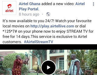 Enjoy Free Airtel Online Video Streaming For 14 Days In Ghana