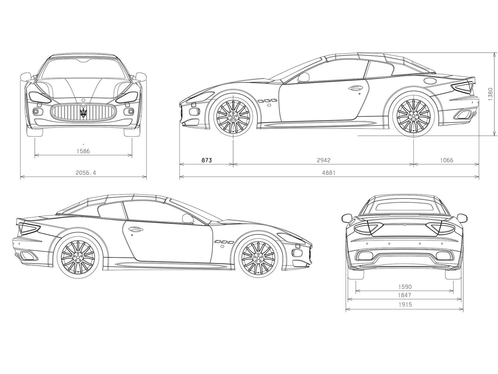 3d Auto Club Blueprints Of Cars