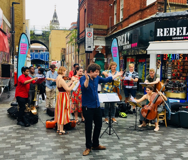Matthew O'Keeffe and Brixton Chamber Orchestra on Electric Avenue, Brixton