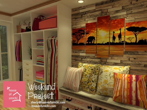 House Of Smichi Weekend Projects Walk In Closet For Her