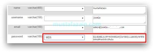 Cara Reset Password Joomla Melalui phpMyAdmin