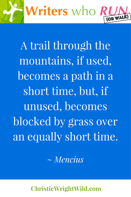 """A trail through the mountains, if used, becomes a path in a short time, but, if unused, becomes blocked by grass over an equally short time."" ~ Mencius 
