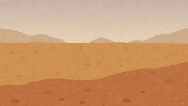 火星の地表のイラスト(背景素材)