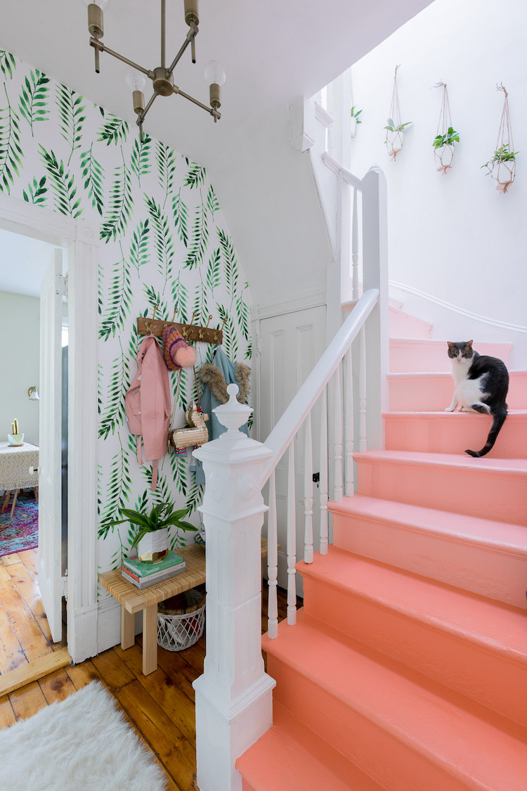 Budget Make-Over: A Small, Dingy Hallway Becomes a Bright, Happy Space