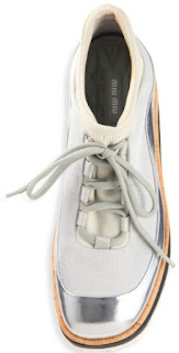 Miu Miu Metallic Platform Sneaker