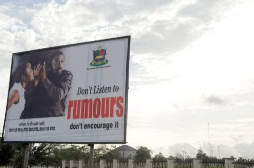 Bayelsa Waste State Funds For Anti Rumour Billboard