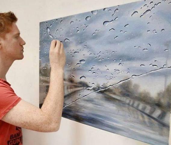 artists who paint rain drops