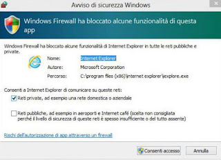 windows firewall blocca questa app