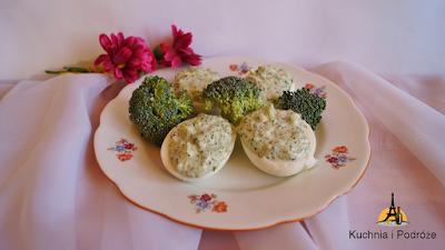 Jajka faszerowane brokułem