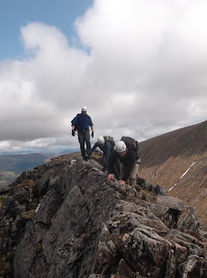Scrambling, Tower ridge, Ben Nevis
