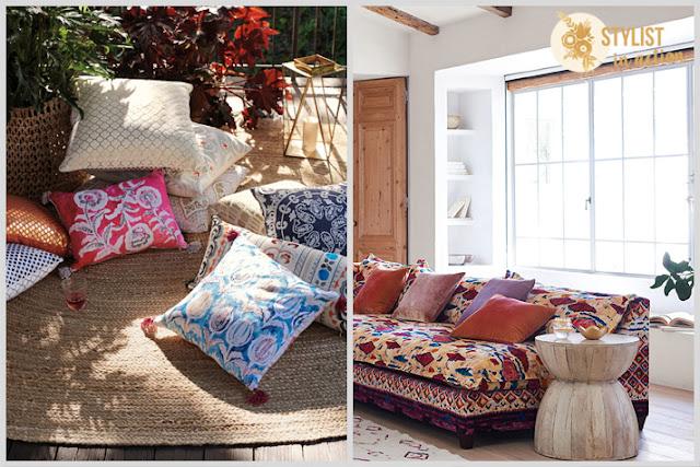 Inspiración por catálogo: Anthropologie. Almohadones soñados para acompañar un sillón y crear un espacio perfecto.