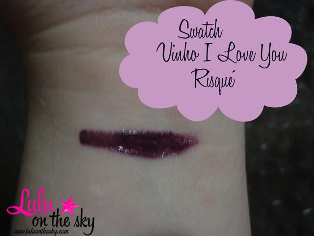 Risqué Vinho I Love You  é a minha unha da semana - blog luluonthesky