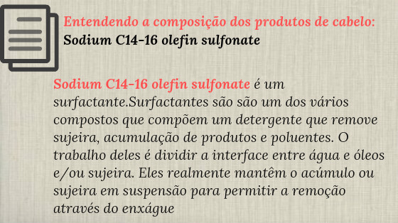 Sodium C14-16 olefin sulfonate  low poo