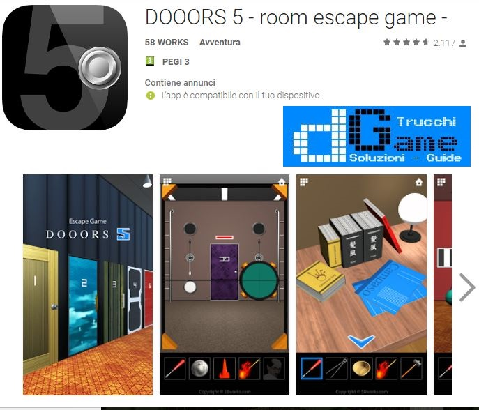Soluzioni DOOORS 5 - room escape game -
