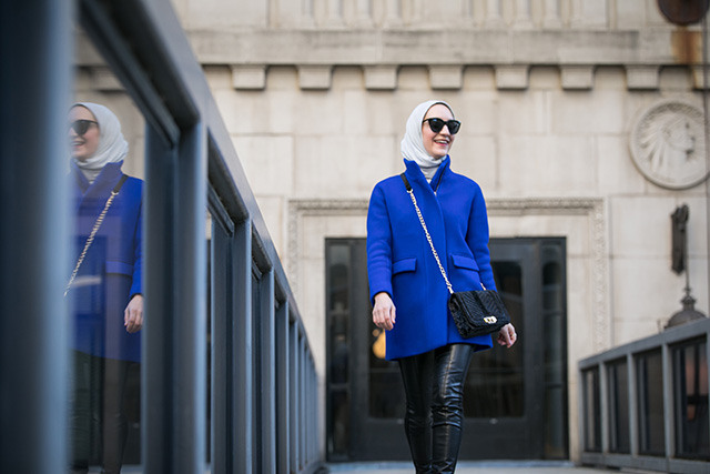 Cocoon coat-Leather Leggings-Hijabi Fashion-Lalz-Winter Style-Booties