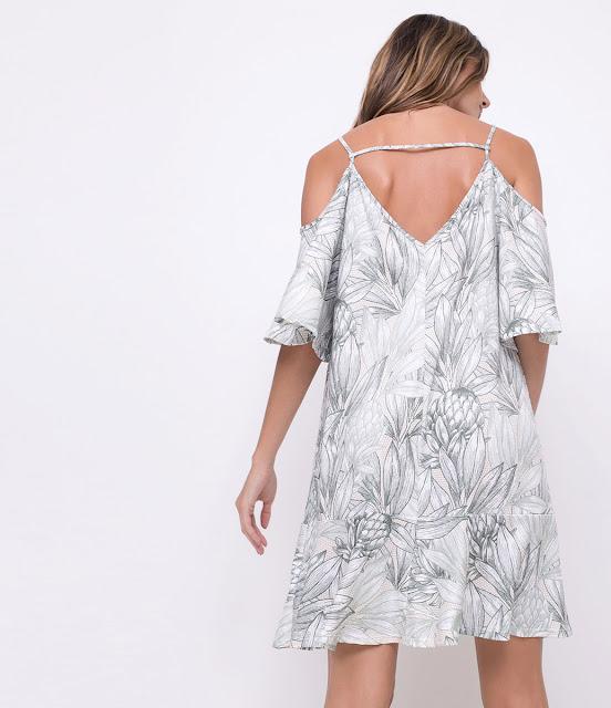 Moda Verão Vestido Ciganinha Estampado
