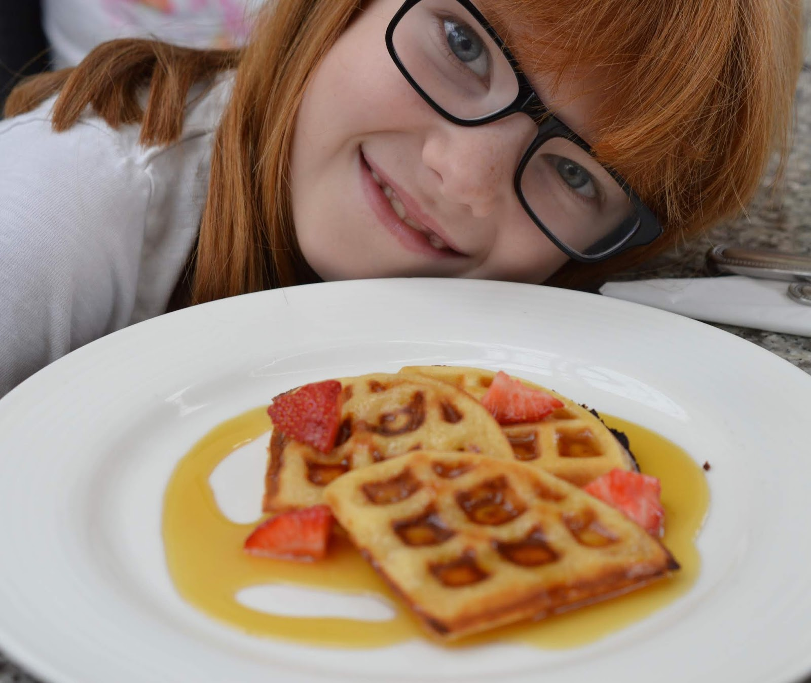 10 Reasons to Stay at Matfen Hall in Northumberland with Kids  - waffles at Matfen Hall