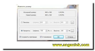 FastStone Capture 8.4 - Изменение размера в пикселях или процентах