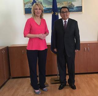 Συνάντηση της Περιφερειάρχη Αττικής με τον Πρέσβη της Δημοκρατίας της Ινδονησίας στην Ελλάδα
