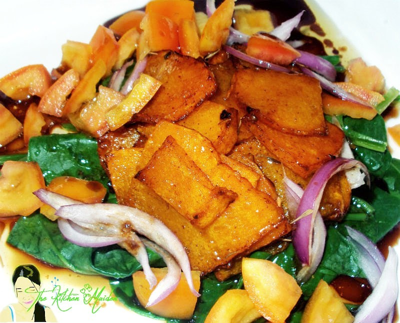healthy grilled vegetable dish with flavorful soy and vinegar sauce