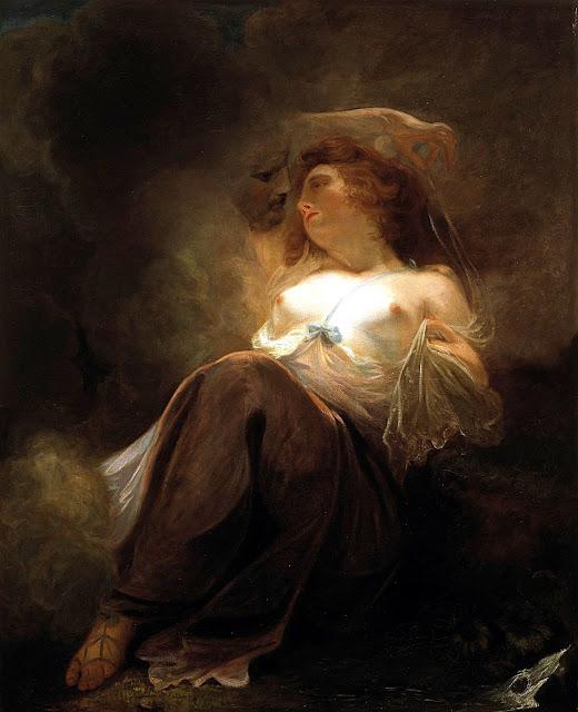 John Hoppner - Zeus e Io - arte - seduzione - topless