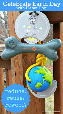 earth day planet dog toys