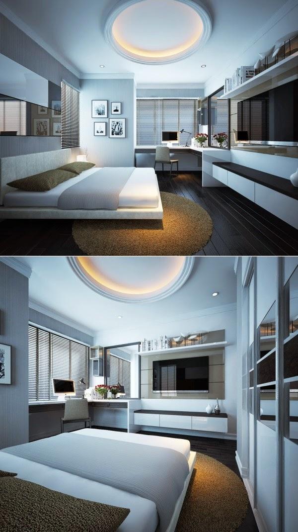 Hogares frescos 20 modernos dise os de dormitorios para for Cuartos disenos