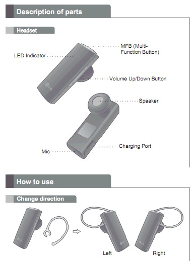 Lg bluetooth headset hbm 210 how to turn on.