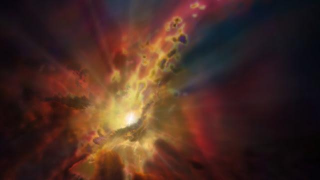 Descubren una 'fuente' en el centro de un agujero negro supermasivo