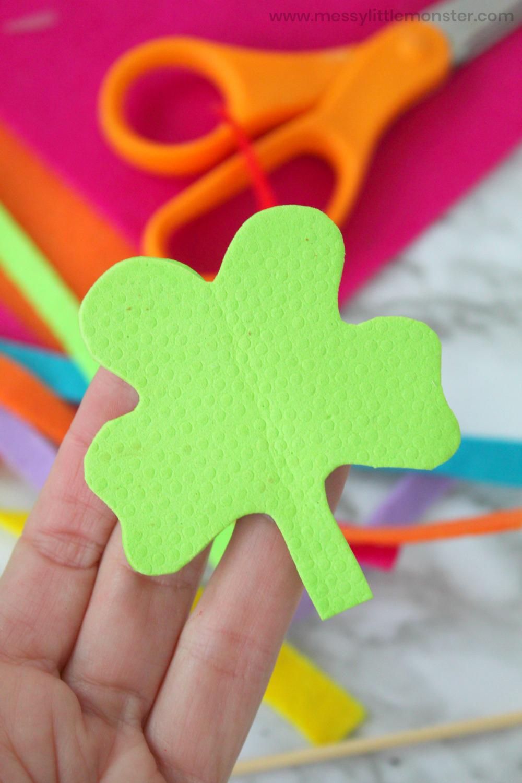 St Patricks Day shamrock wand