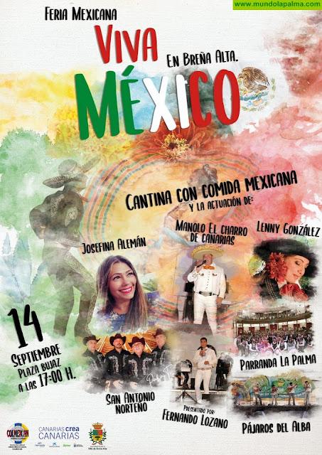 Parranda La Palma, Josefina Alemán y San Antonio Norteñose suman a la fiesta 'Viva México' de Breña Alta
