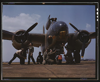 Image: The Library of Congress: [Servicing an A-20 bomber, Langley Field, Va.] (LOC). Palmer, Alfred T., photographer