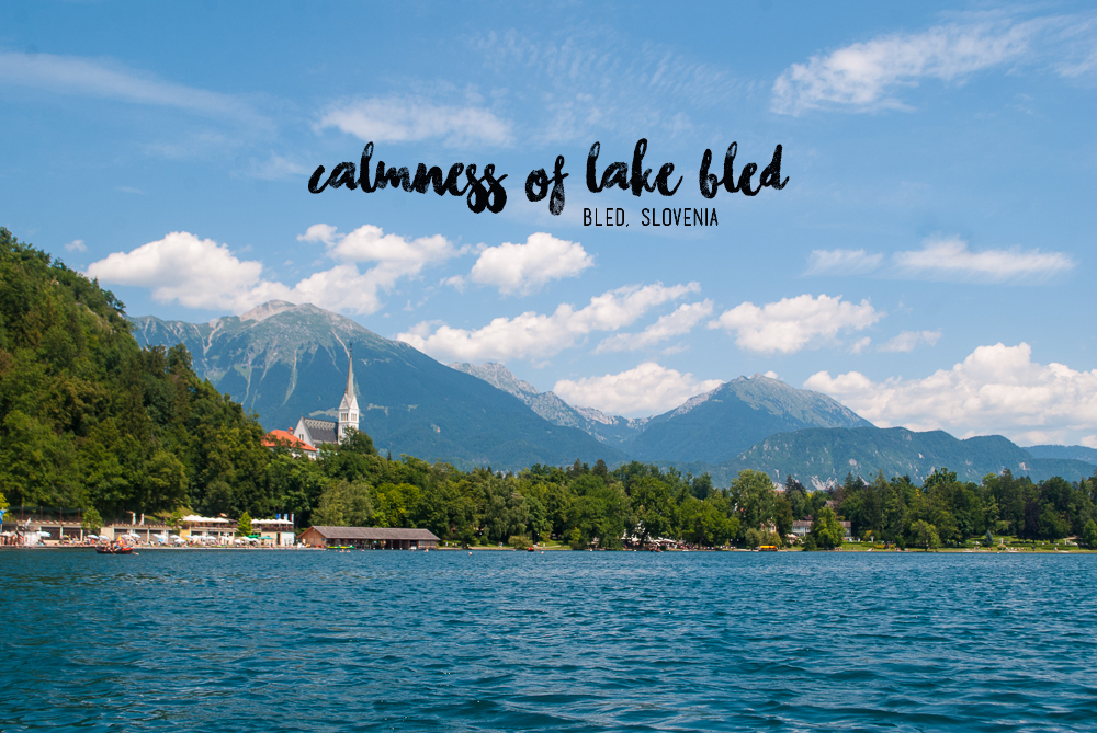 image of the landscape of lake bled in the summer