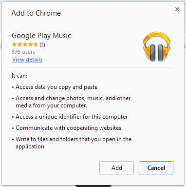 Google Play Music Mini Player and Browser Upload