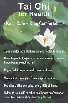 Tips on how to keep safe and stay comfortable when practicing Tai Chi