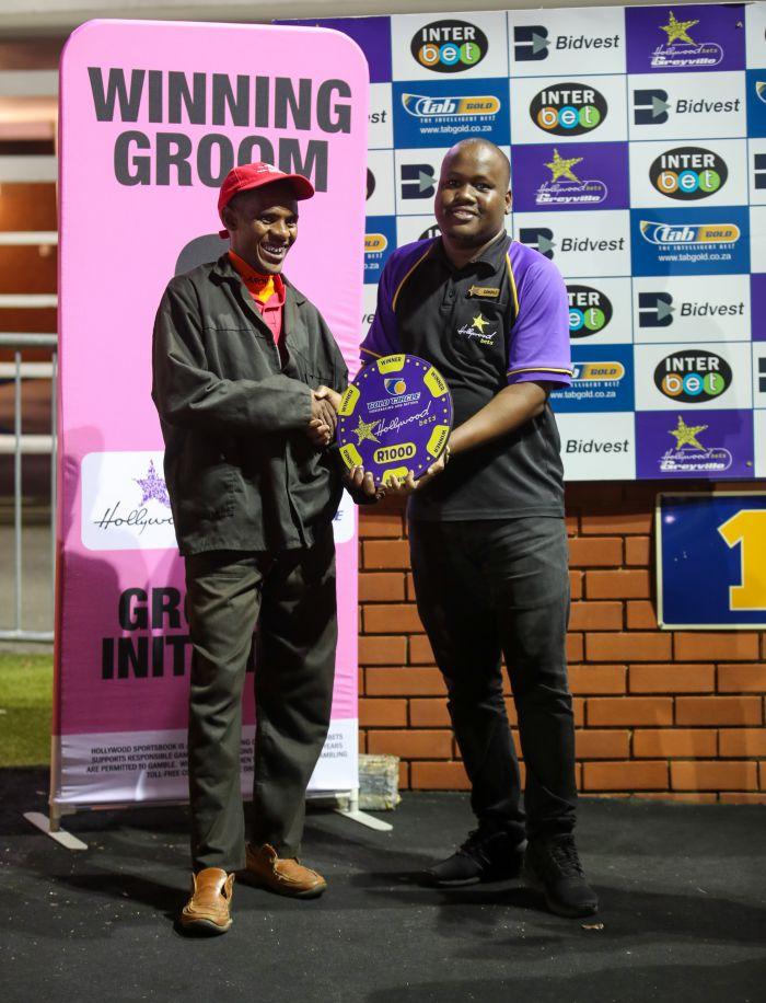 Grooms Initiative winner - Friday 6th December - Hollywoodbets Greyville -  Race 7 - Thando Mdludlu - WILLIAMS LAND