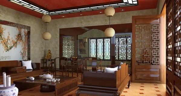 Dcoration salon en thme chinois  Dcoration Salon  Dcor de Salon