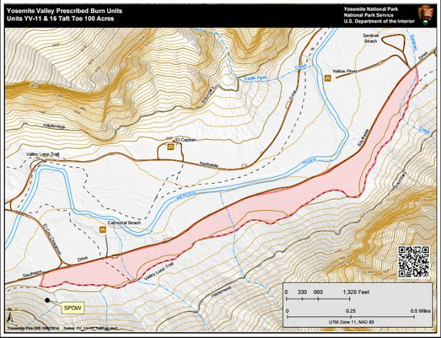 Taft Toe Prescribed Fire Project Map