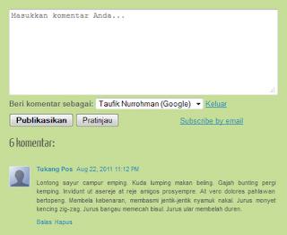 Komentar yang mengandung keyword membantu blog cepat diindex google