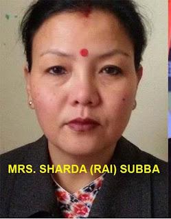 hill TMC Mahila Congress president Sardha Subba