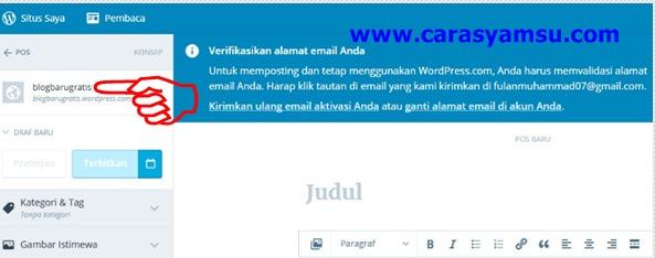 Verikasikan Alamat Email Anda