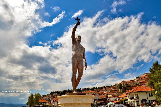 Vodici monument in Ohrid, Macedonia