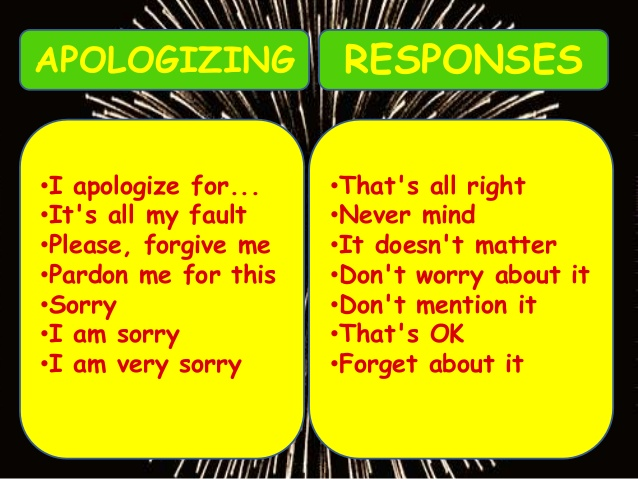 How to Express Accusation, Blame, Confession, Apology, and Promise