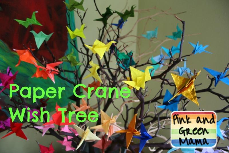 Origami Paper Crane Wish Tree