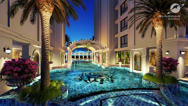 Bể bơi tiêu chuẩn cao cấp tại dự án chung cư Sunshine Center