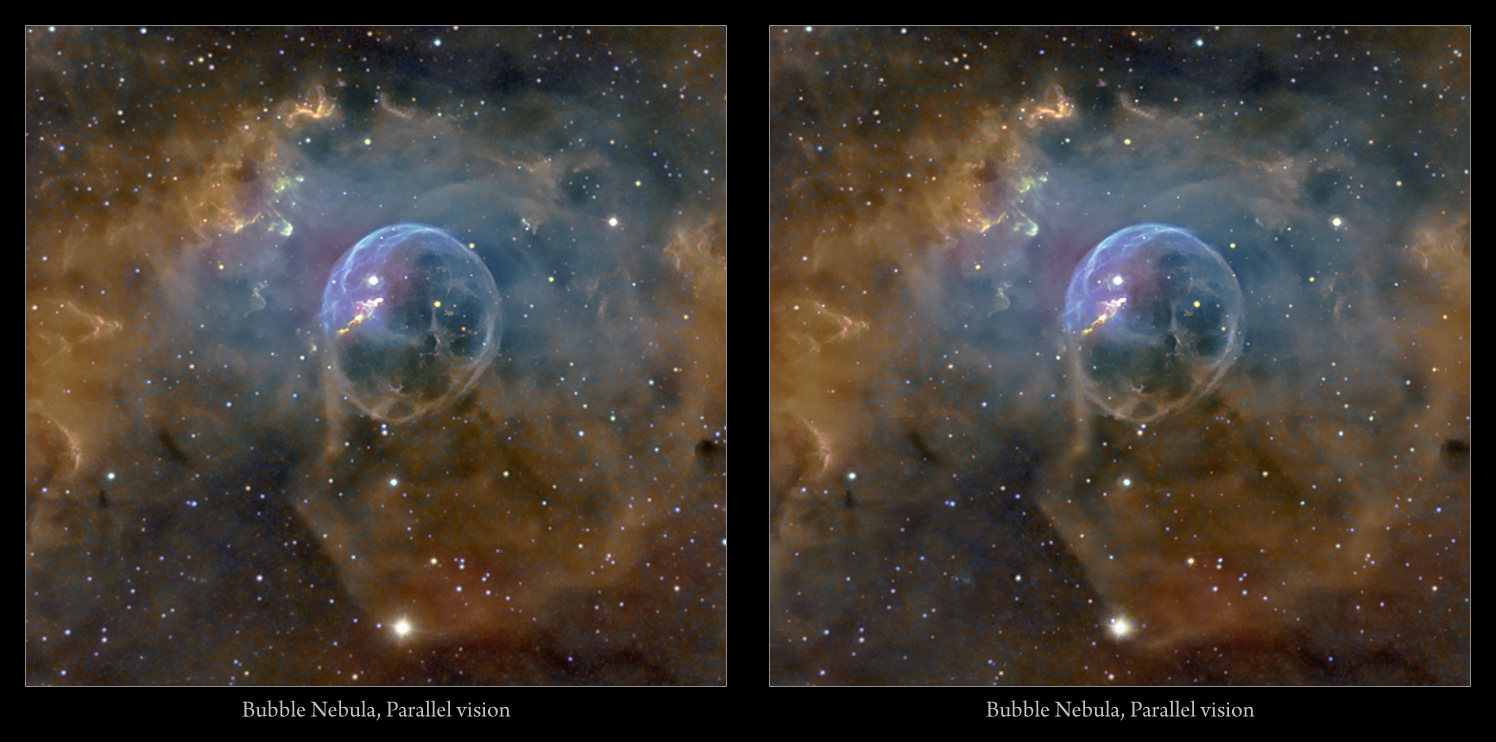 Astro Anarchy Bubble Nebula As An Experimental 3d Stereo Pair