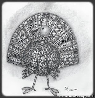 zendoodle turkey sphère zentangle