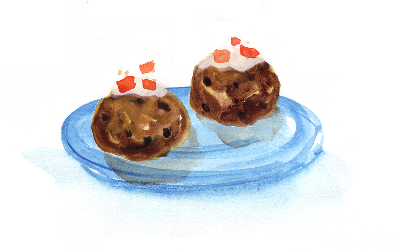 Round Iced Spice Cookies, Duvshanyot, Rosh Hashanah, Christmas, Hanukkah, chanukah, Minty's Table, Lauren Monaco Illustration