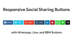 Responsive Social sharing Button with whatsapp line and bpm