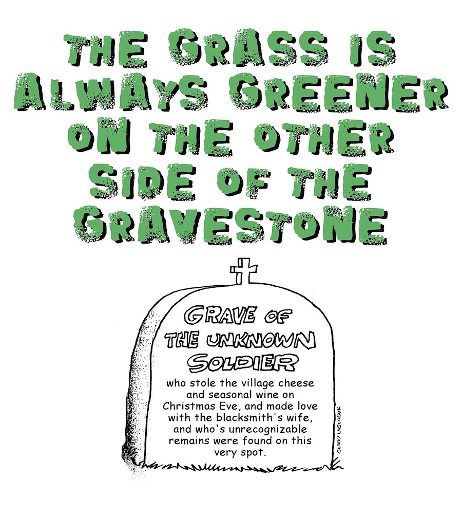 Grave of the unknown soldier, cemetary cartoon